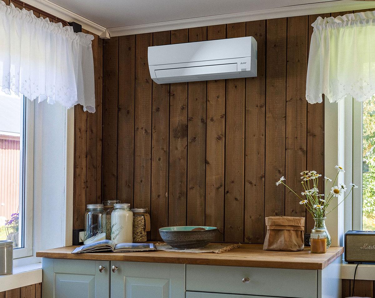 Mitsubushi IGURU varmepumpe er unik og eksklusivt spesialkonstruert for Skandinavisk klima