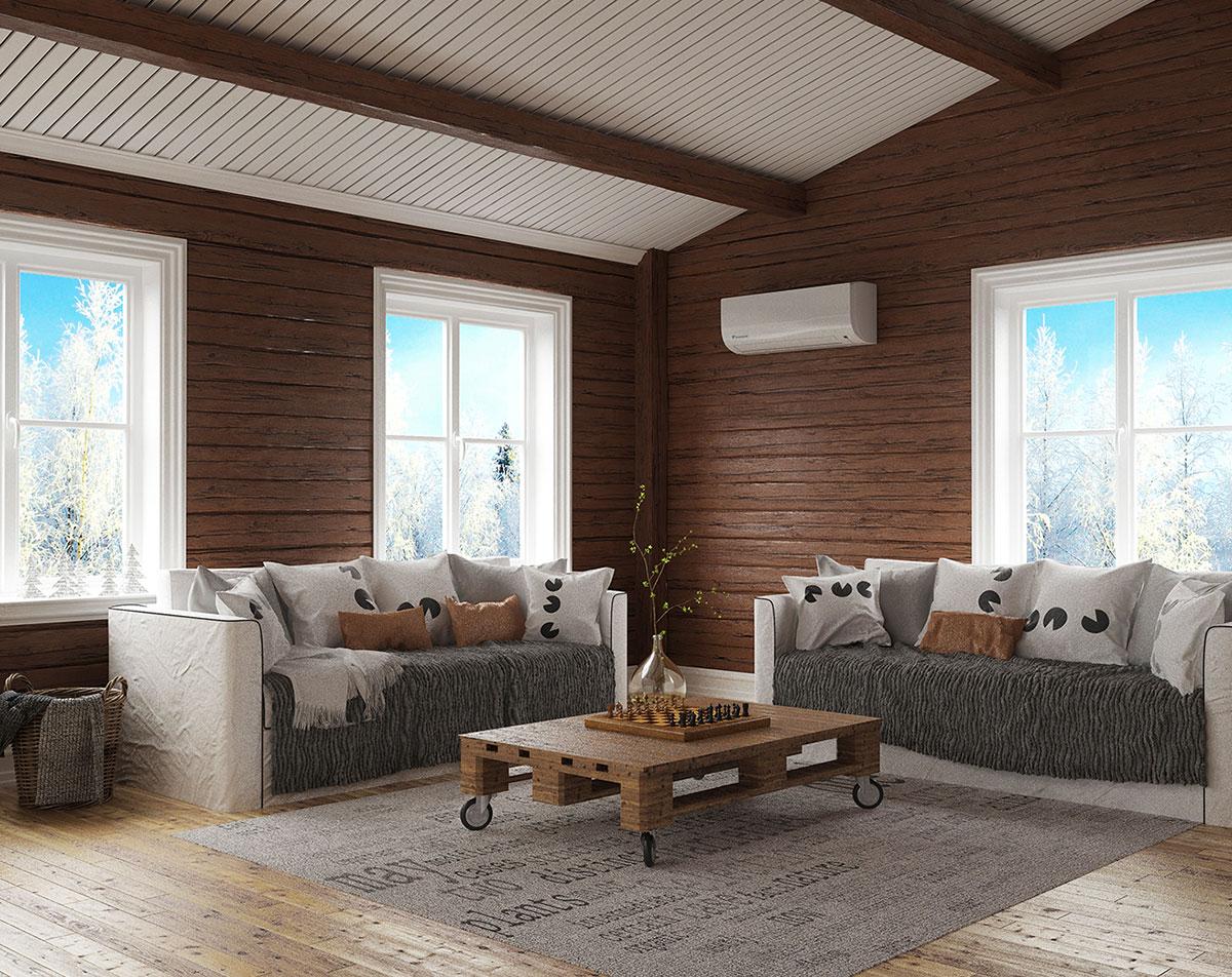 Daikin Moskus+ er skreddersydd for det kalde norske klimaet.