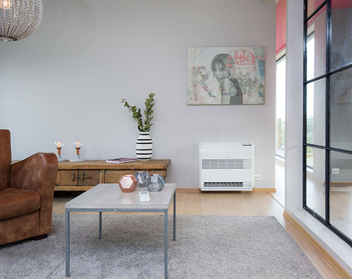Varmepumpens smarte og brukervennlige fjernkontroll gir deg en rekke intelligente funksjoner.